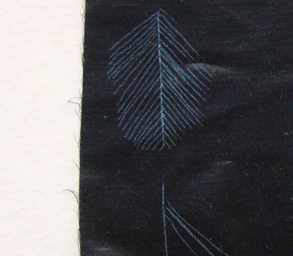 white marks on black