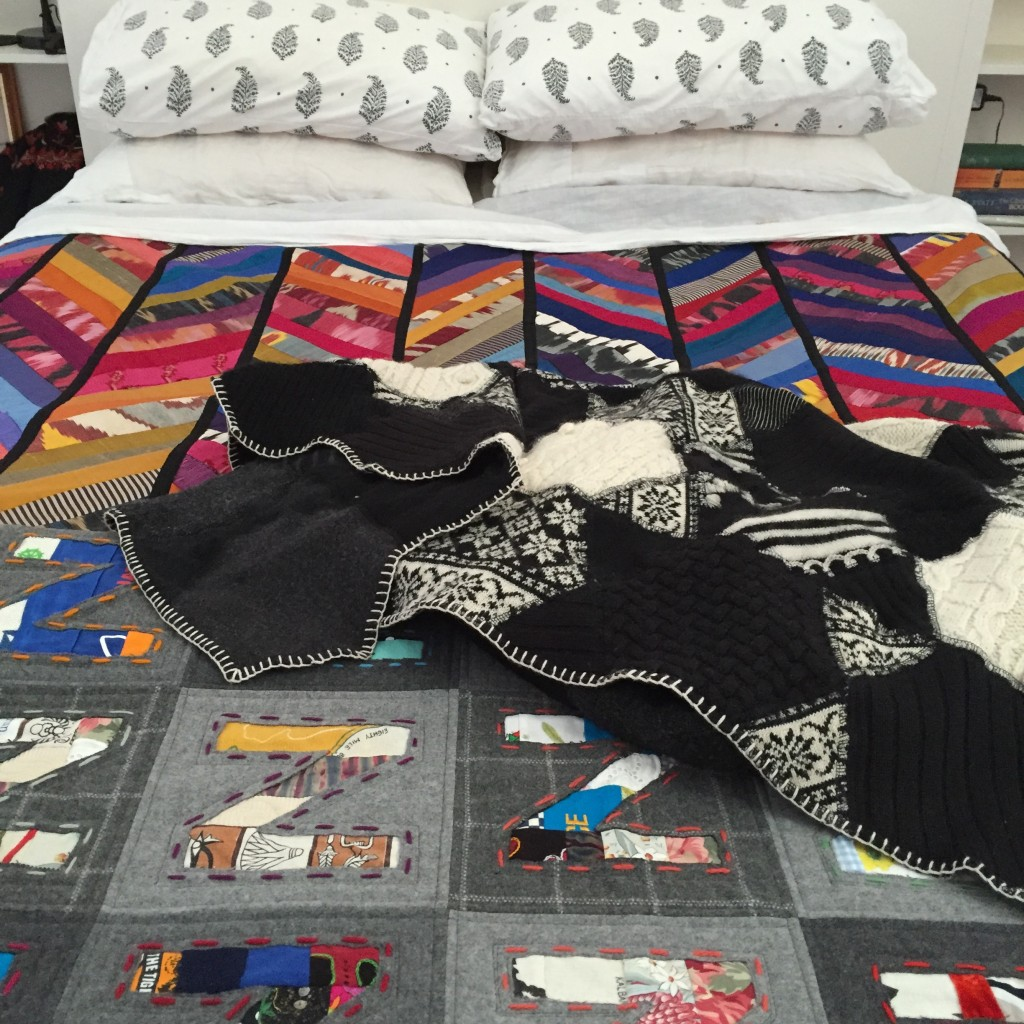 ramping up the warmth - silk, woven wool and knitted wool