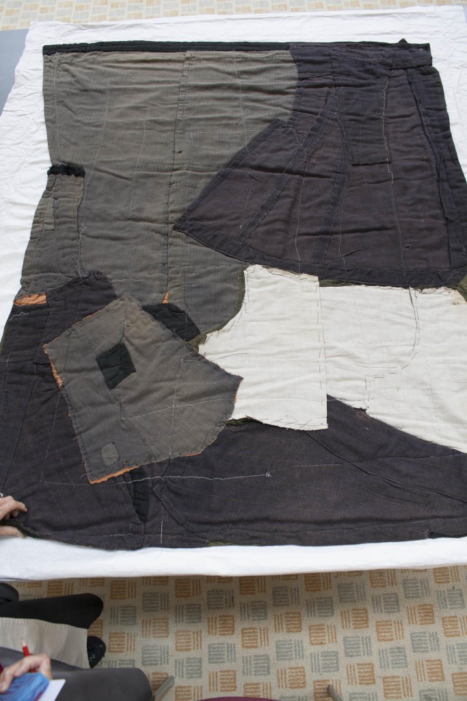 quilt from old clothes