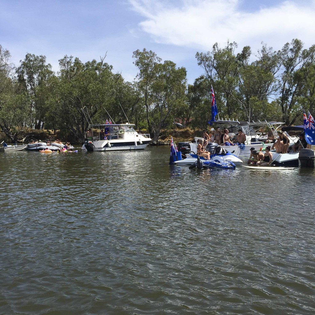 Australia day Murray River style