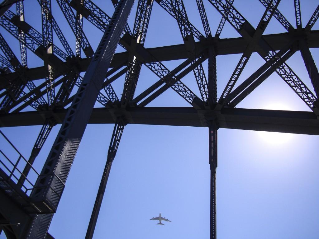 walking the bridge
