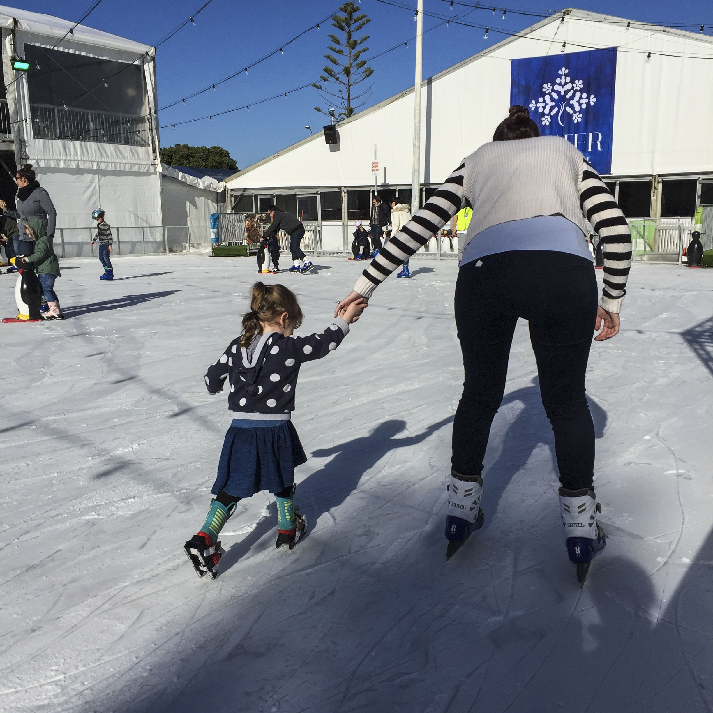 ice skate/walking
