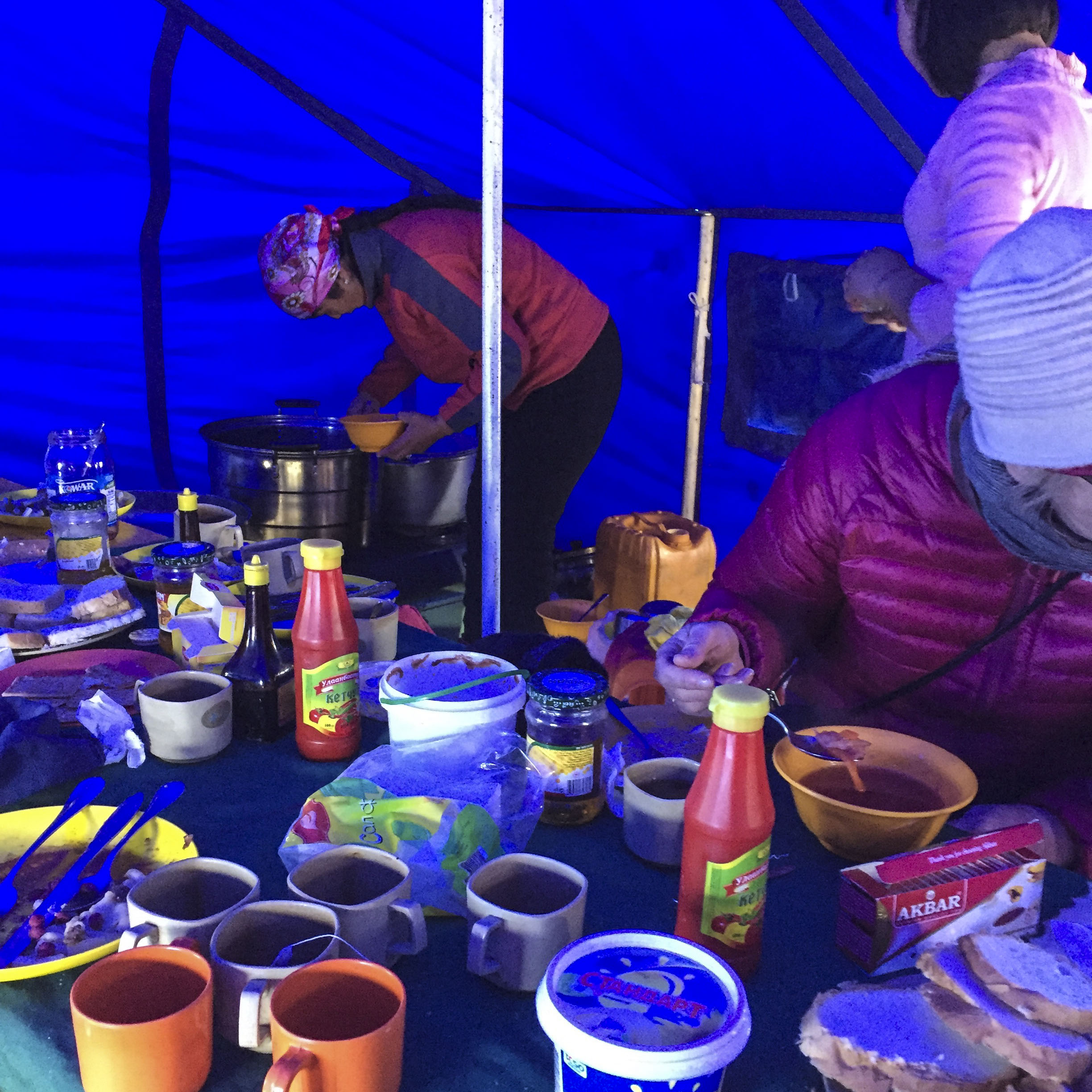 our lunch tent at the eagle festival